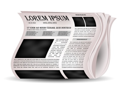 international news: Vector newspapers and news icon   Illustration