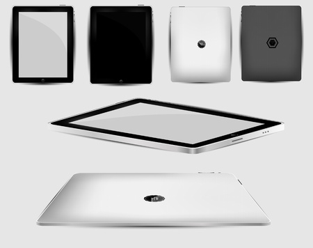 Vector Black abstract tablet pc on white  Vector