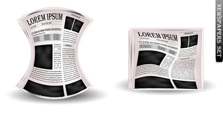Vector newspapers and news icon Stock Photo - 12897092