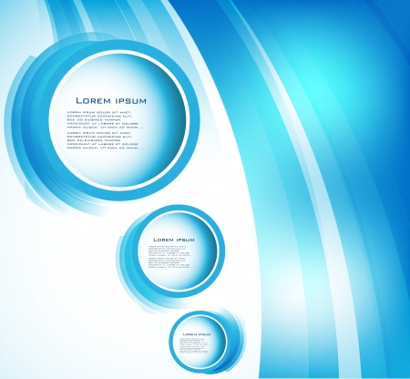 Vector abstract circle blue  curve photo