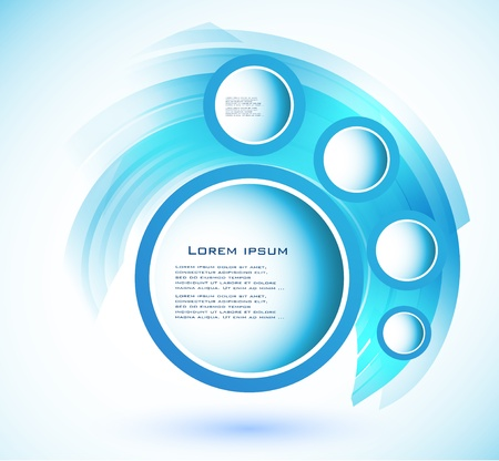 Vector abstract circle blue  curve Illustration