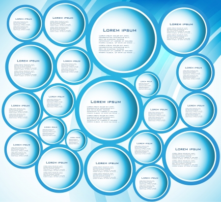 circle blue  curve Vector
