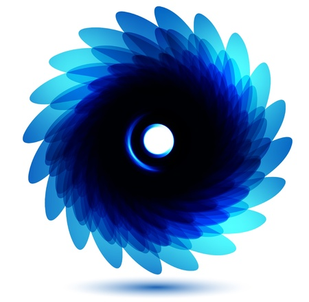 Vector chrysanthemum blue flower vector card  Vector