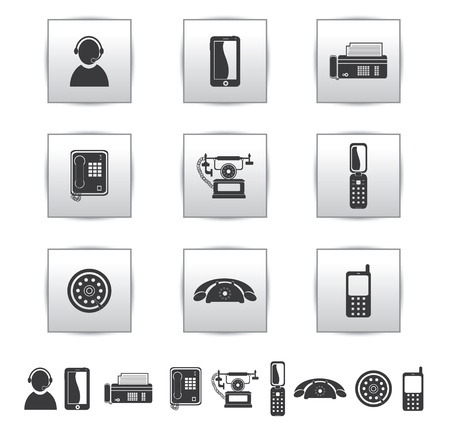 payphone: Vector Movie icons  Film and square gray