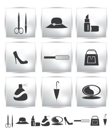 nail file:  collection web icon  Set pictogram