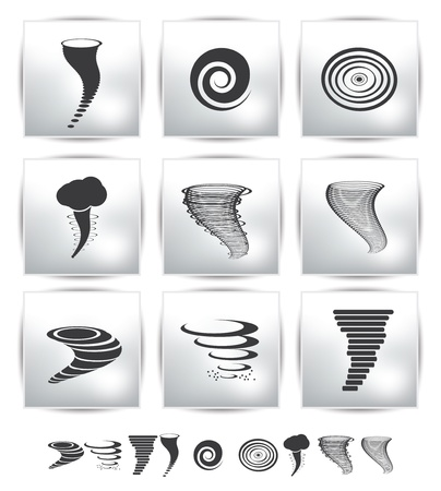 twister: Weather Icons  web llustration  gray  Stock Photo