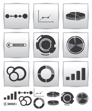 Infographics set icon  Swirl line graph Stock Vector - 15634238