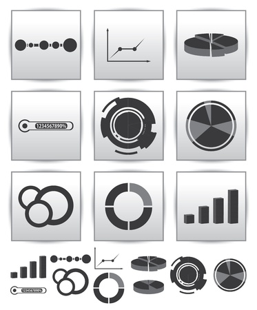 Infographics set icon  Swirl line graph Stock Vector - 15634238