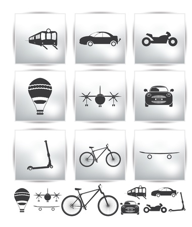 Set of transport icons  tour Stock Vector - 15758877