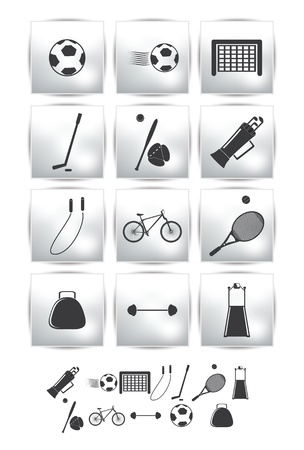 golf bag: icons  Sport and  soccer Illustration