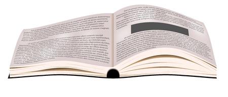 Open book  blank business textbook Stock Vector - 16031571