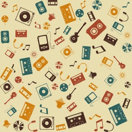 background seamless  Retro Music sound Stock Vector - 16702257