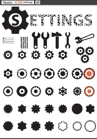 toothed: set web icons  settings cogwheel