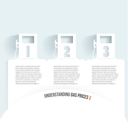 Set of banners with jerrycan   gas pump on white Vector