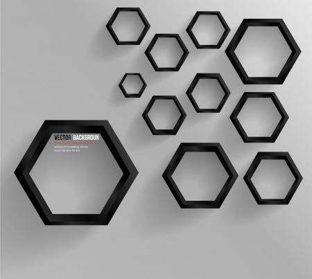 Vector abstract background Hexagon  Web and Design Illusztráció