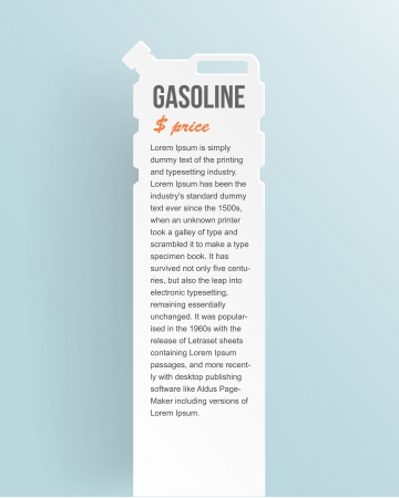 Set of banners with jerrycan.  gas pump on white Vector