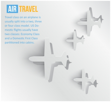 paper cut out: abstract background Air travel  Web
