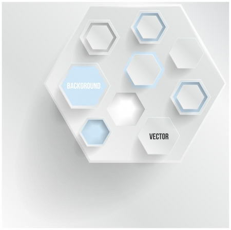multifaceted: abstract background Hexagon  Web and Design