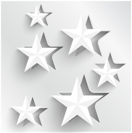 paper cut out: abstract background stars  Web Design Illustration