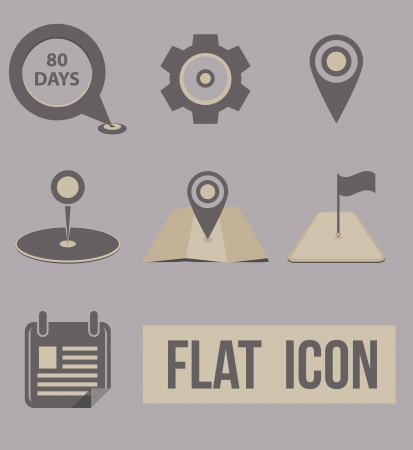 Vector set icons modes of transport  navigation Stock Photo - 20870451