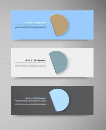 Vector banner set . Colourful circle. Vector