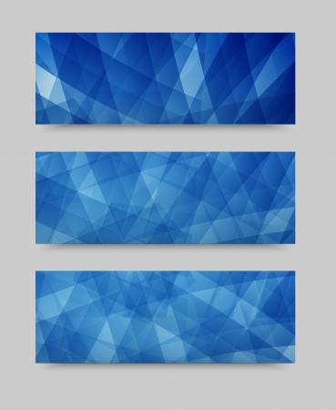 Vector geometric set banner . brochure template
