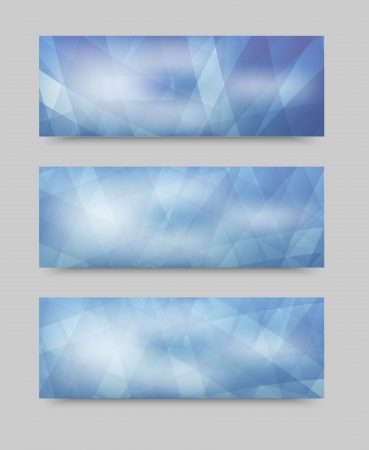 Vector geometric set banner . brochure template Vector