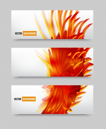 Vector flower set banner . brochure template Stock Vector - 21601128