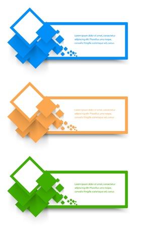 Vector Collection Banner Web. diseño y color Ilustración de vector