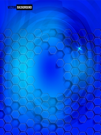 multifaceted: Vector abstract background Hexagon. Web Design