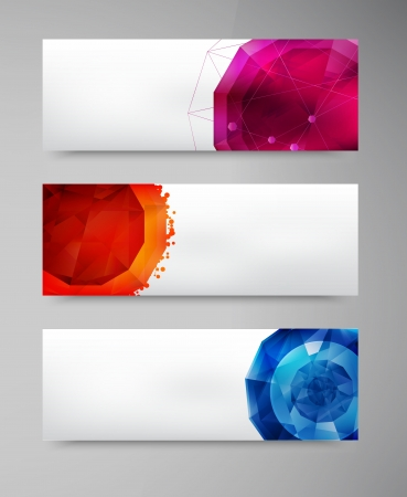 abstract gem and blue ice. set Vector