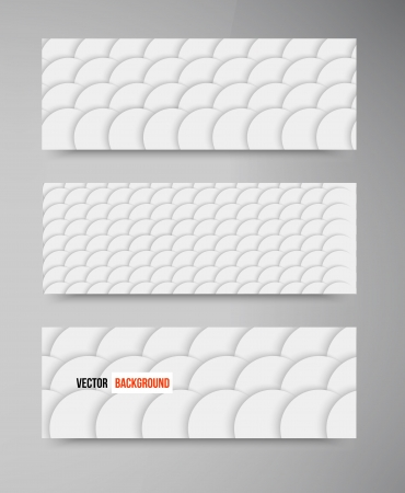 grey scale: Vector Set banners fish Scales. Web elements. Circle