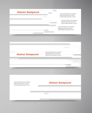 Vector banners. Web elements. Wave and curve Vector
