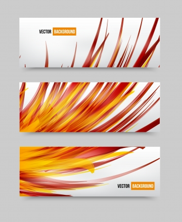 Vector flower set banner . brochure template Vector