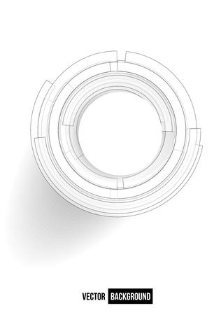 dibujo tecnico: Vector punto y la línea de tarjeta de vector negro. círculo