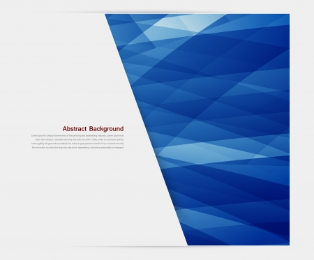 blue abstract: Vector banner background. White paper