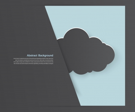 Vector abstract background thunderstorm cloud. Paper Vector