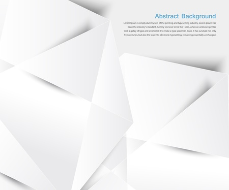 Vector abstract background. White geometric