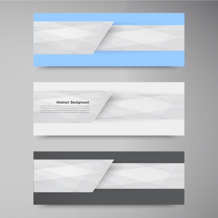 Vector banner background  White line paper origami Vector