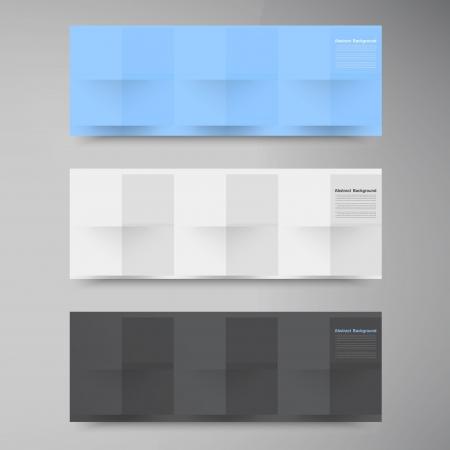 Vector banners and squares. Color set Illusztráció