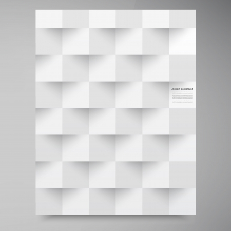 Vector white squares. Abstract backround Illustration