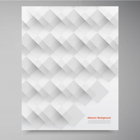 ベクトルの白い正方形。抽象的な背景