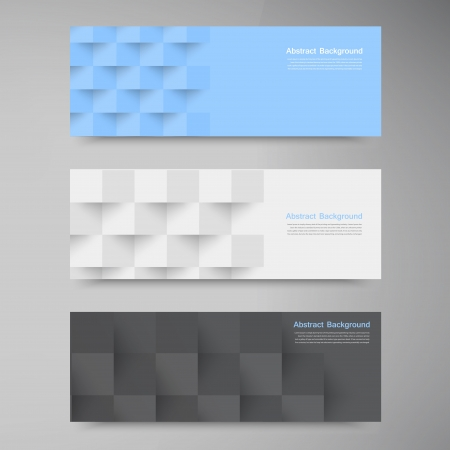 Vector banners and squares. Color set Ilustrace