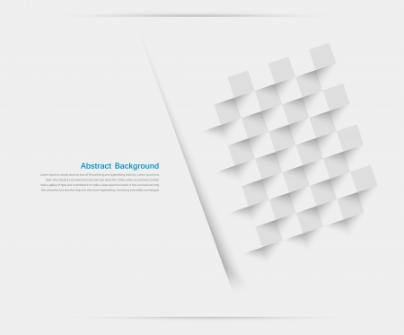 abstract backround: Vector white squares. Abstract backround Illustration
