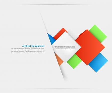 abstracto: Vector de fondo abstracto. Objeto cuadrado y 3d Vectores