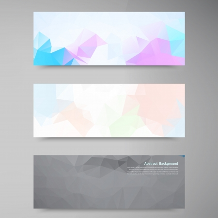 Vector abstract background. Polygonal pattern and object Vector