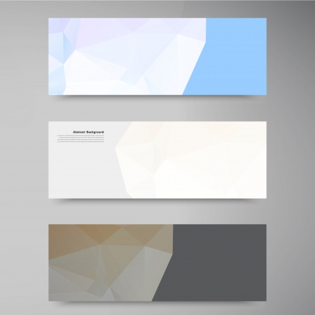 Vector abstract background. Polygonal pattern and object