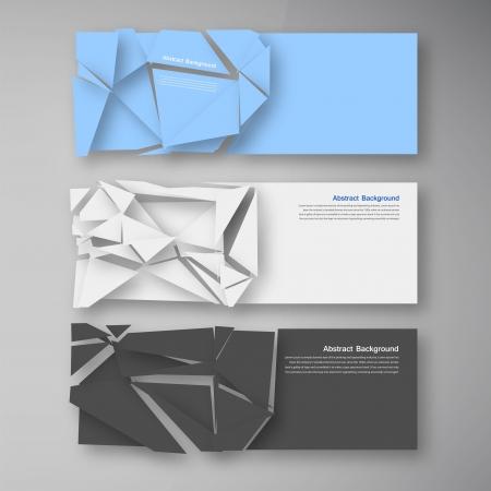 broken glass: Vector wed banners. Set color elemet and broken