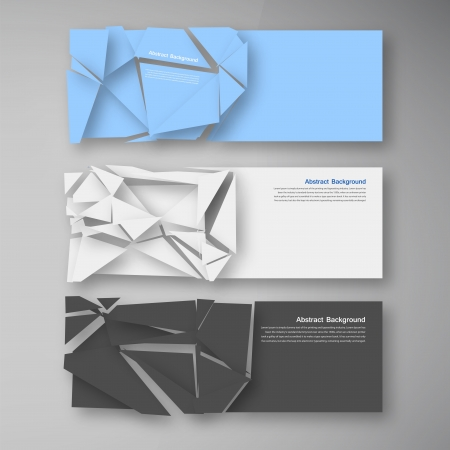 shattered glass: Vector wed banners. Set color elemet and broken