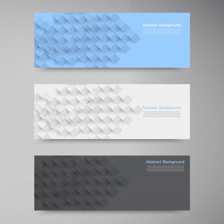 Vector banners and squares. Color and set